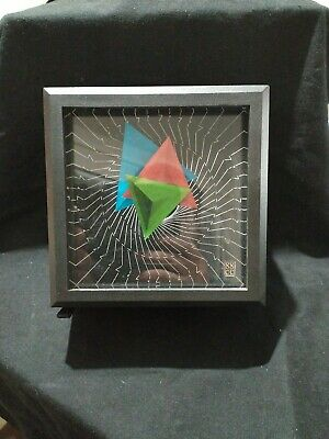 Vintage Clever Clocks 1980's offset triangle clock
