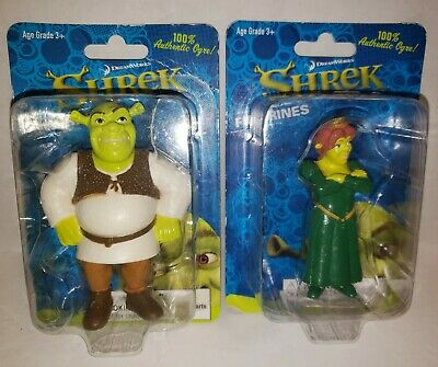 Shrek Figurines Lot of 2 Shrek and Fiona unopened DreamWorks Sealed New