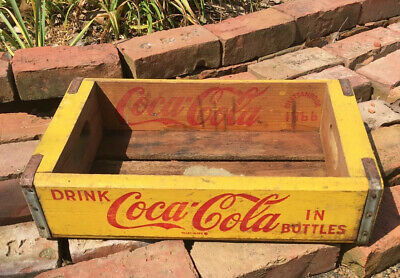 Vintage 1966 Coca-Cola Wooden Soda Pop Crate Box case wood Chattanooga Tennesse