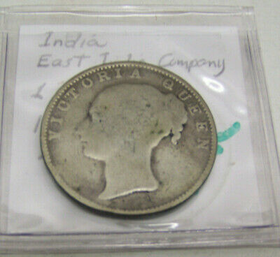 1840 - TYPE 1 -  One Rupee - East India Company - Queen Victoria - Silver