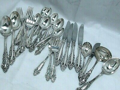 1971 Silver Majesty Baroque Reed & Barton Dinner & Serving Pieces 30 Pc Exc
