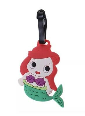 "Mermaid Luggage Tag 4"" Rubber Suitcase Tag Travel US Seller"