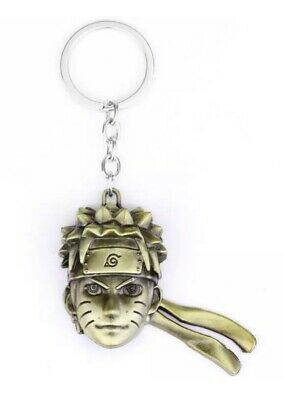 """Naruto Head Face Keychain Gold 2"""" Anime US Seller"""