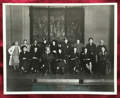 Vintage Group Costumes Cops Police Gangsters Women Priest 8x10 B/W Photo