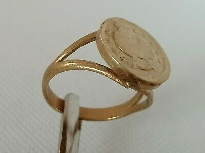 Rare Ancient Antique Ring Roman Bronze Solid Beautiful Very Stunning