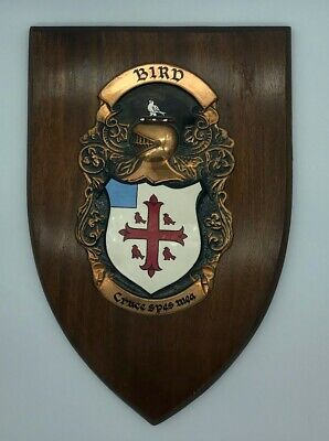 BIRD Family Coat of Arms wall plaque