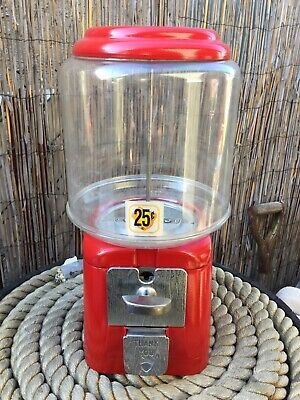 Vintage Oak Acorn Gumball Machine original