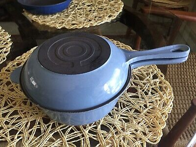 Le Creuset Small Combo Sauce Pan/Skillet, #18, Made In France, Lt. Blue, VGC!