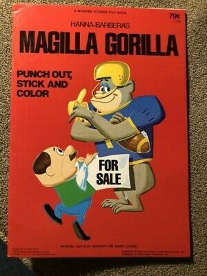 NOS MAGILLA GORILLA 1974, Punch Out, Stick and Color Hanna-Barbera Activity Bk