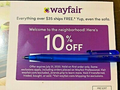 SUPER FAST DELIVERY Wayfair.com Coupon 10% Off First-time Shopper exp 7/31/20