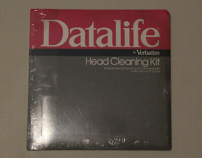 """DATALIFE BY VERBATIM - HEAD CLEANING KIT - FOR 8"""" DRIVES Very Rare"""