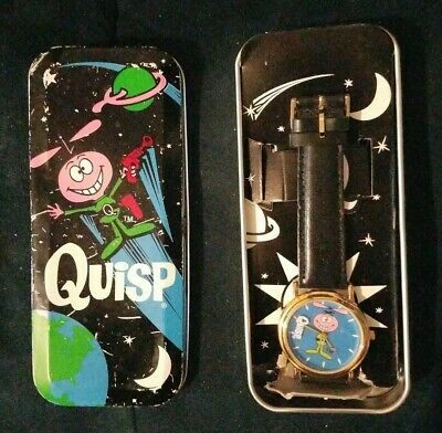 Quisp cereal wristwatch/watch premium by Fantasma in tin boxes