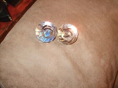 Swarovski Crystal Joining Gift Paperweights Blue & Black SCS and Swan Logo