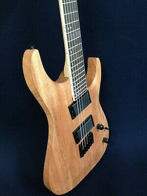 Haze-6FF Fanned-Fret,6-String Electric Guitar,Low Gloss Natural Oil+Free Gig Bag