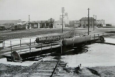 Vintage Image Darlington Turntable & Loco Shed 51A Lner Days 200X140Mm