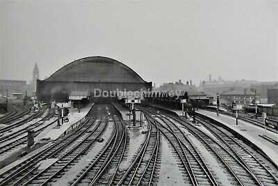 195X155Mm Official Vintage Image Derby Midland Station C1908 Photograph