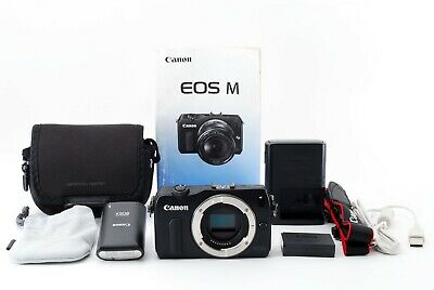 Canon EOS M 18.0MP Mirrorless Digital Camera Black w/90EX Exce+++ Tested #5420