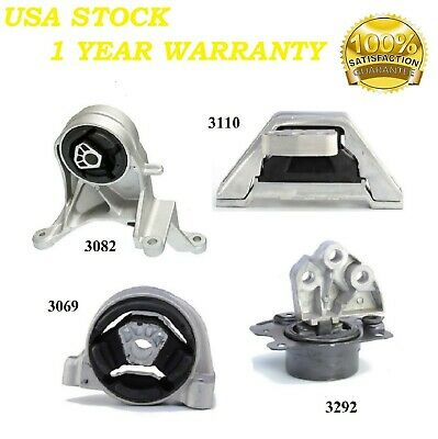 4 PCS MOTOR & TRANS MOUNT FIT 2005-2006 Chevrolet Equinox 3.4L