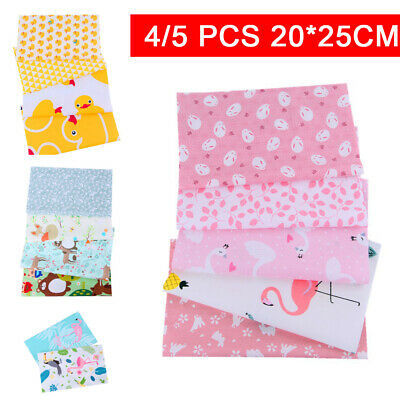 5Pcs DIY Mixed Pattern Cotton Fabric Sewing Quilting handmade Patchwork Crafts