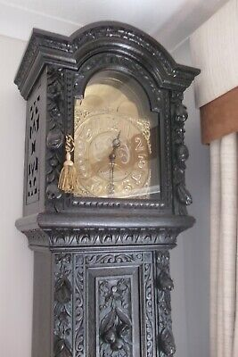 Antique Heavily Carved Longcase Grandfather Clock