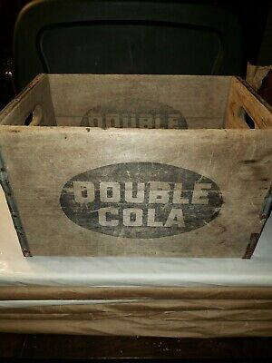 Vintage Double Cola soda wooden crate advertising