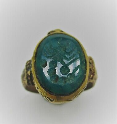 Beautiful Late Medieval Islamic Gold Ottomans Seal Ring With Stone