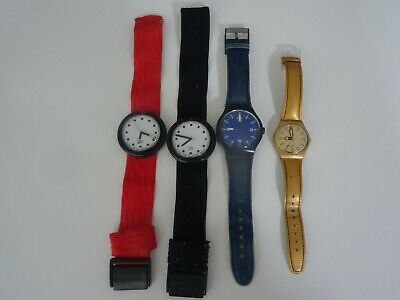 4 Swatch Watches Pop Denim Swiss Job Lot
