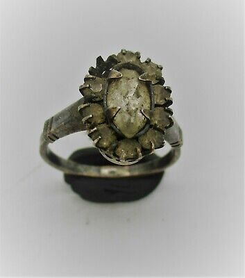 British Detector Finds Circa 1700Ad Queen Anne Period Silver Ring With Stone