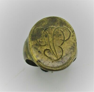 Detector Finds Unresearched Ancient Gilded Ring With Insignia On Bezel