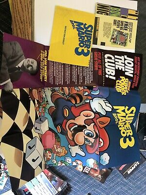Super Mario Bros. 3 (Nintendo NES) Instruction Manual Booklet With Poster