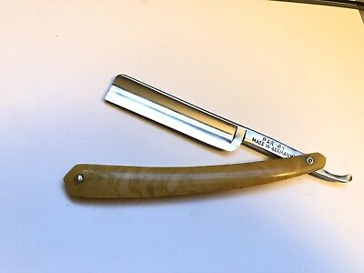 "Vintage 11/16"" PAR #1 Straight Razor Shave Ready Made In Germany"