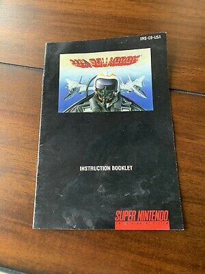 U.N Squadron Super Nintendo SNES Manual Only Authentic Complete Your Game