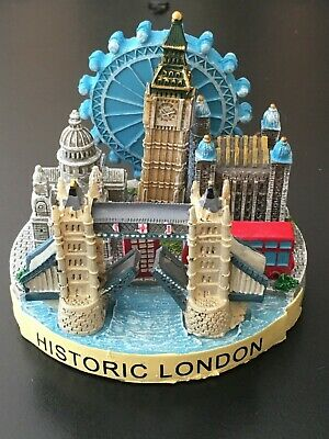 Historic London painted resin 3D ornament of London iconic landmarks, boxed