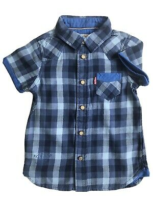 Boys Levis Check Blue Shirt, Size 3 Years Now Only £16.00 WAS £39.00