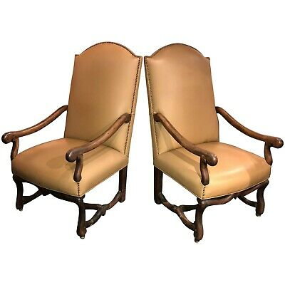Pair of 18th Century French Os Du Mouton Walnut Armchairs