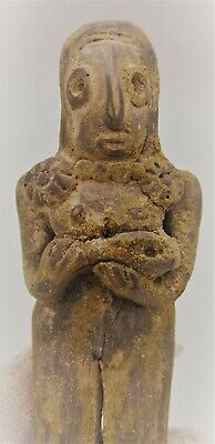 Ancient Indus Valley Harappan Terracotta Fertility Figure Holding Child