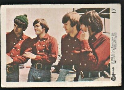 MONKEES 1967 Rayberts A&BC Gum - Colour Trading Card no.17