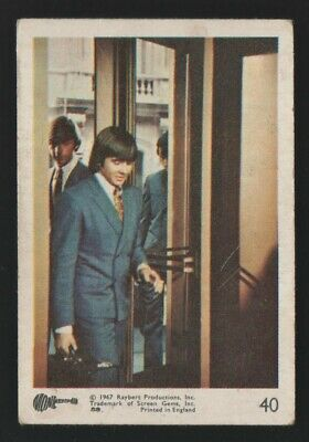 MONKEES 1967 Rayberts A&BC Gum - Colour Trading Card no.40