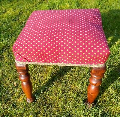 Early Victorian  Upholstered Stool