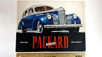 """1941 PACKARD """"110 and 120"""" - Prestige Color Catalog - Very Good Condition - (US)"""