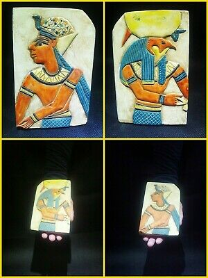 EGYPTIAN ANTIQUES ANTIQUITY Two Different Sides Drawings Stela 1549-1302 BC