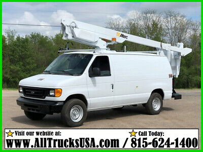 2007 Ford E350 5.4 GAS 35' ALTEC BUCKET VAN Used Regular Cab