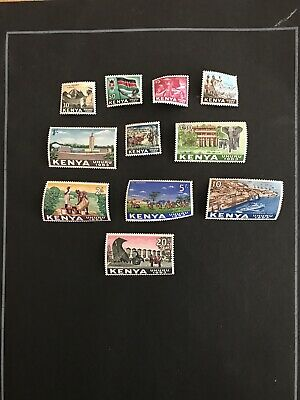 Stamps - Bc Qeii Kenya Mint Vals To 20/- (11) All Show