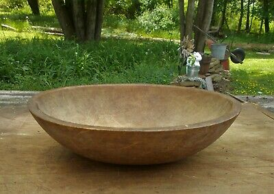 Antique Primitive Old Farm House Munising Butter Dough Bowl For Your Fillers