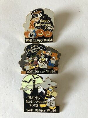 WDW Happy Halloween Fab 4, Goofy and Donald LE3500/1500 Pins