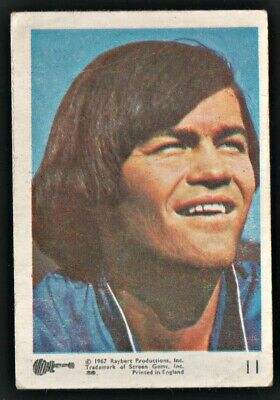 MONKEES 1967 Rayberts A&BC Gum - Colour Trading Card no.11