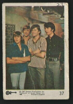 MONKEES 1967 Rayberts A&BC Gum - Colour Trading Card no.37