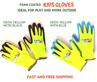KIDS GLOVES Gardening Work Lightweight Flexible Professional Protection Coated