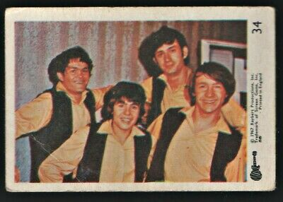 MONKEES 1967 Rayberts A&BC Gum - Colour Trading Card no.34