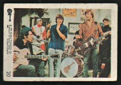 MONKEES 1967 Rayberts A&BC Gum - Colour Trading Card no.20